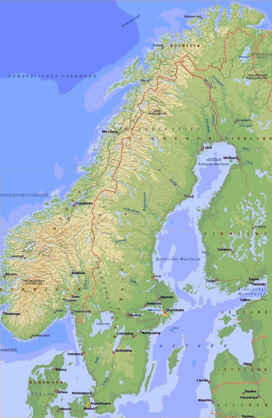 karten von norwegen